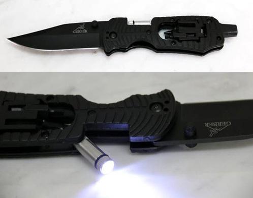 ガーバー ナイフ ツール付LEDライト